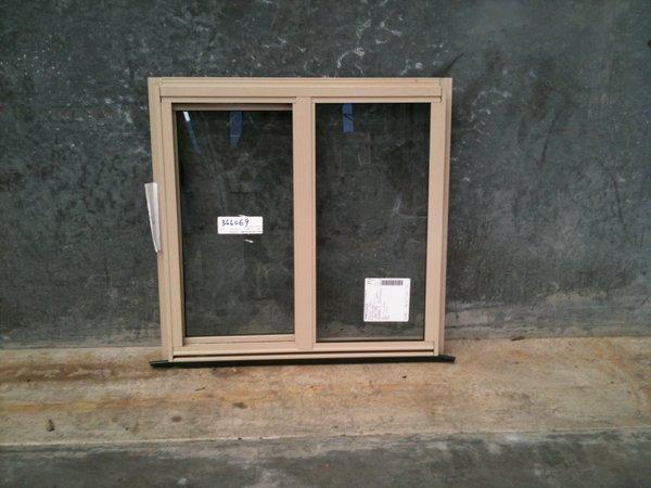 Aluminium Sliding Window 600h X 610w Paperbark Stock