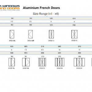 Aluminium sliding doors stock windows and doors for French door dimensions