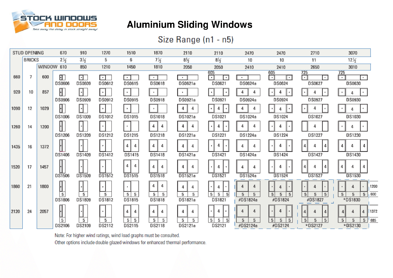 Aluminium Sliding Windows Stock Windows And Doors