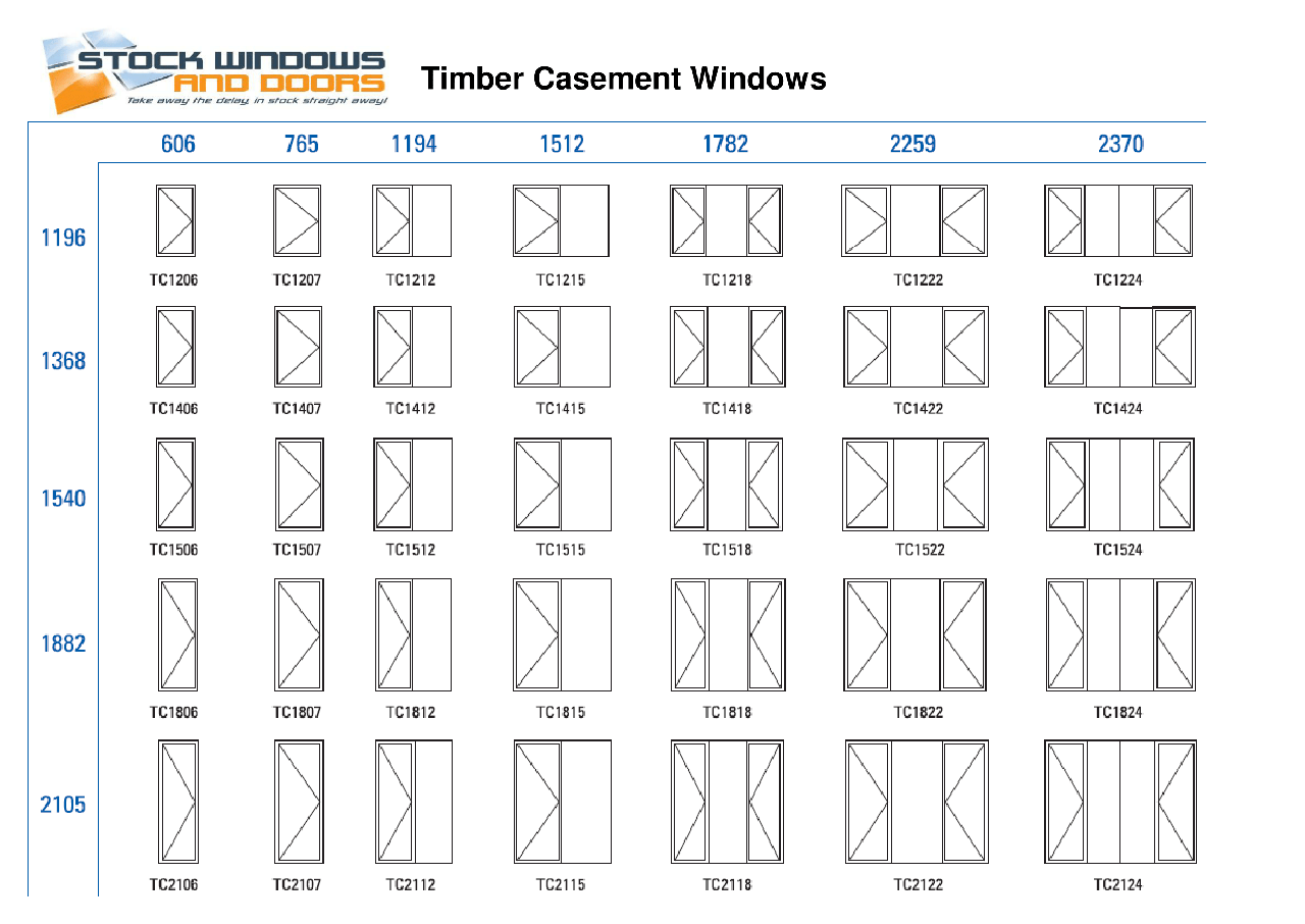 standard window size chart australia timber casement