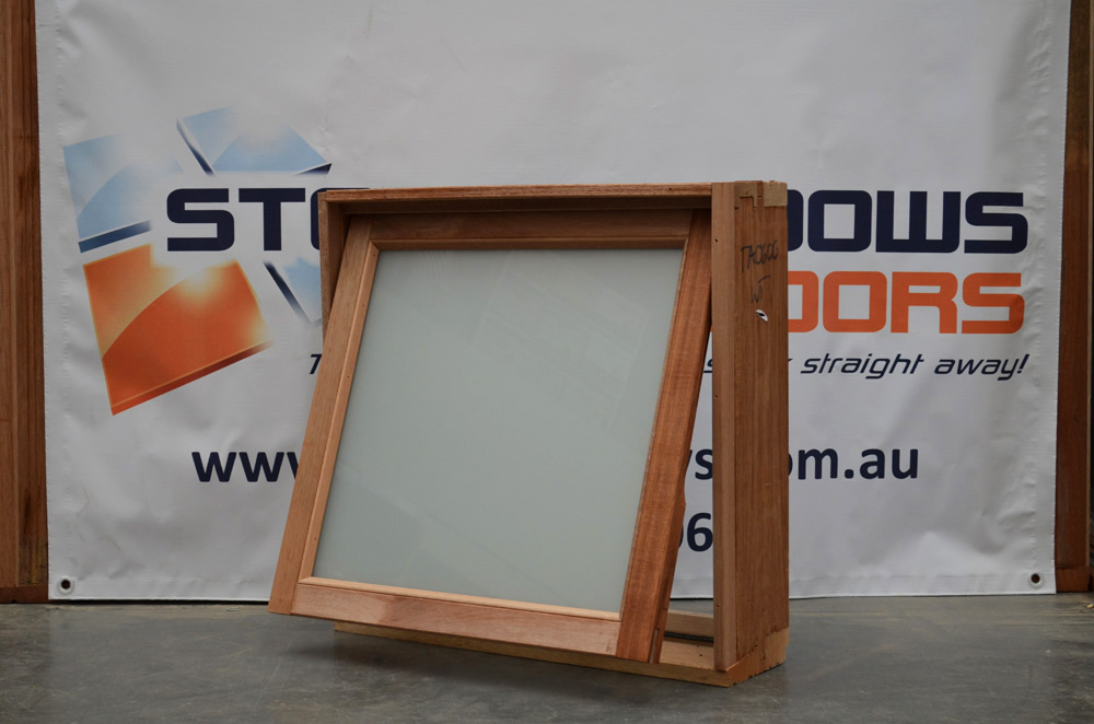 Timber Awning Window 597h X 610w White Translucent Stock