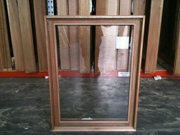 Timber Awning Window 1057h X 765w Double Glazed Stock