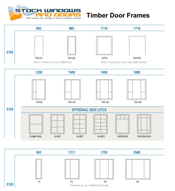 Timber door frames stock windows and doors for Door frame sizes
