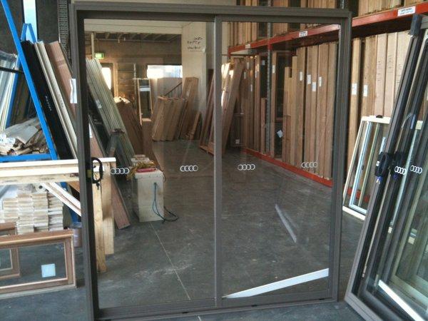 Aluminium sliding door 2100h x 1810w jasper stock for French doors 1800 x 2100