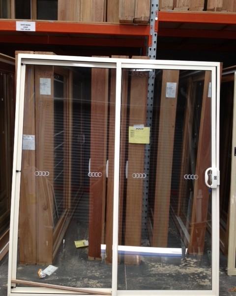 Aluminium sliding door 2100h x 1800w white birch stock for French doors 1800 x 2100