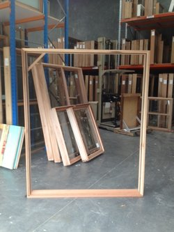 Timber Double Door Frame 2103h x 1715w Open Out KD Hardwood