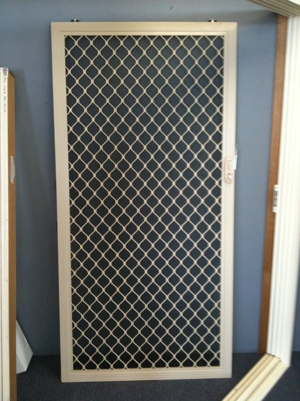 Barrier Door Diamond Grille (Fibreglass Mesh) 1 & Barrier Door Diamond Grille (Fibreglass Mesh) \u2013 Stock Windows And ... Pezcame.Com