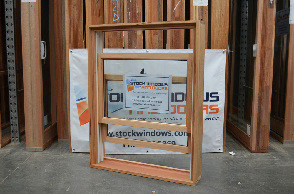 new concept 8b455 1d7bb Timber Double Hung Window 1196h x 929w Double Glazed KD HARDWOOD