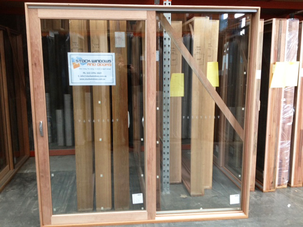 Timber Sliding Door 2107h X 2100w Clear Glazed Stock Windows And Doors