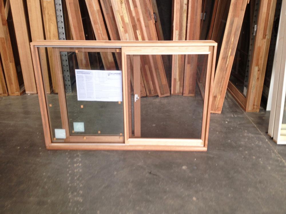 Timber Sliding Window 1017h X 1546w Double Glazed With